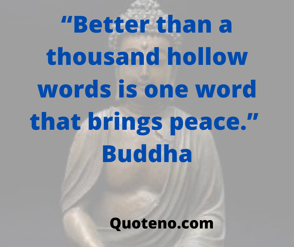 Buddhism quotes on peace