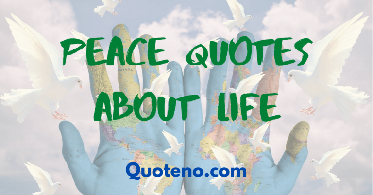 peace quotes about life