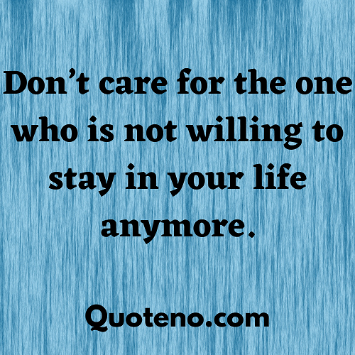 You don t care anymore