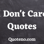 i dont care quotes