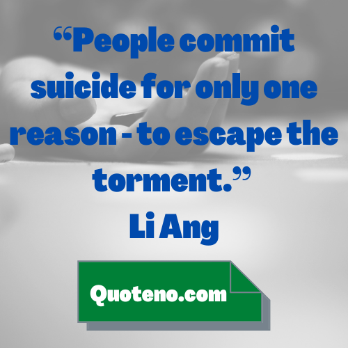 commit suicide quotes
