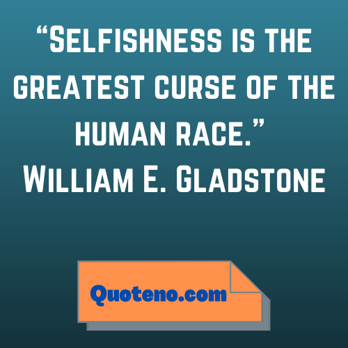 quotes on selfishness