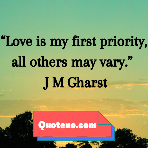 quotes on priorities in love