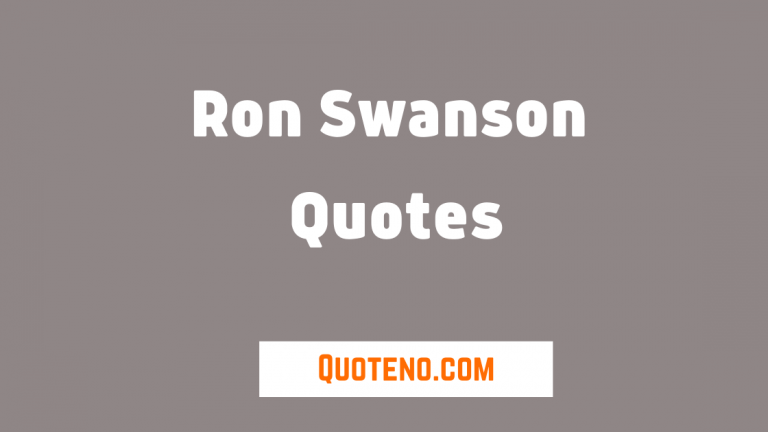 Ron Swanson Quotes