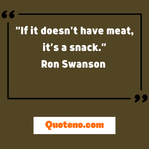 Ron Swanson Quotes About Meat