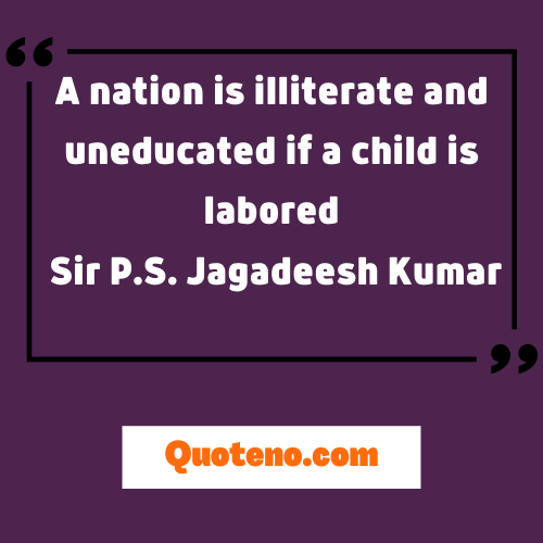 quotes on child labour