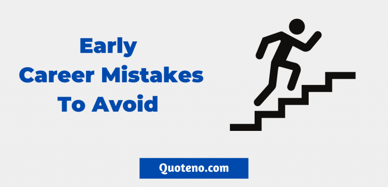 Early Career Mistakes