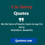 I'm Sorry Quotes